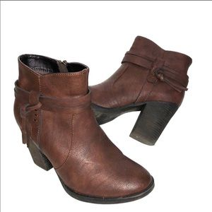 XAppeal Vegan Leather Heeled Booties